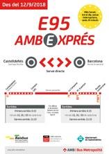 Ampliació de l'horari de la línia d'autobús E95