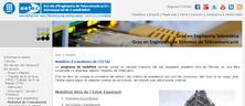 Imatge de web EETAC on està la informació