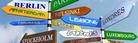 Indicadors de direcció a capitals de països europeus